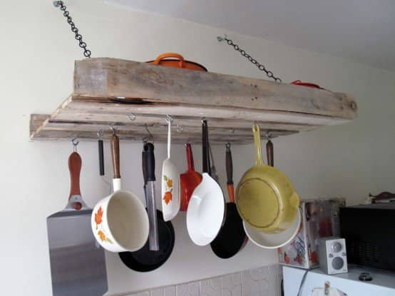 Pallet Rack for the Kitchen 1 • Do-It-Yourself Ideas