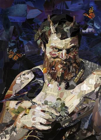 Amazing Recycled Magazine Collage Art 3 • Recycled Art