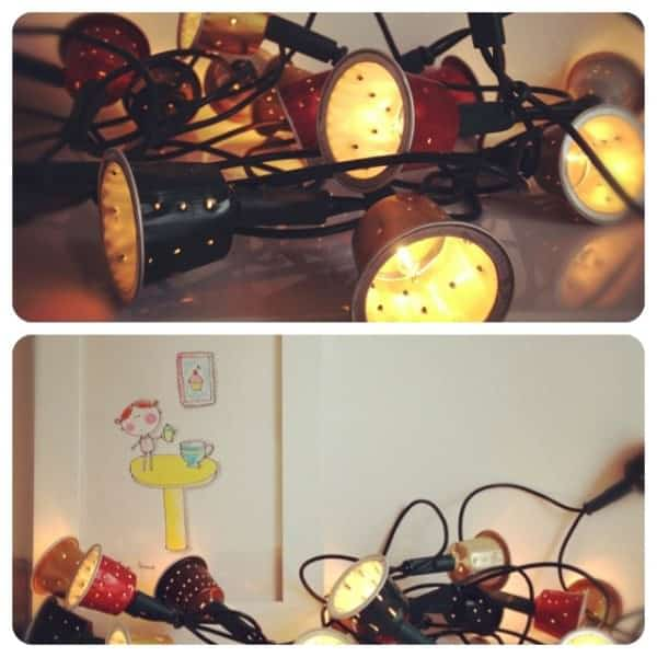Nespresso Caps Upcycled into Garland 1 • Lamps & Lights