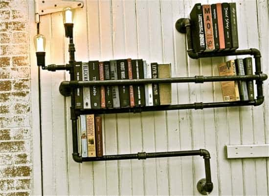 Plumber Bookshelves 1 • Recycled Furniture
