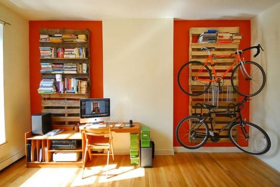 Repurposed Pallets Into Bookshelves & Bikerack 1 • Recycled Pallets