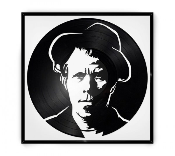 Repurposed Vinyl Turned into Portraits of Iconic Musicians 2 • Recycled Art