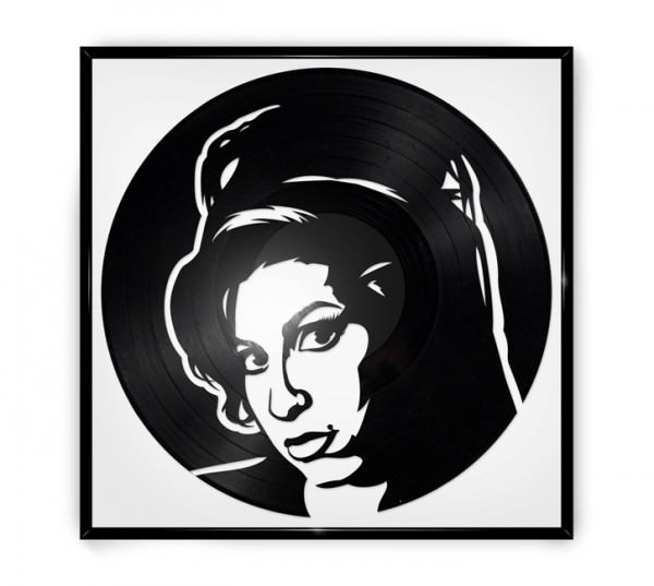 Repurposed Vinyl Turned into Portraits of Iconic Musicians 1 • Recycled Art