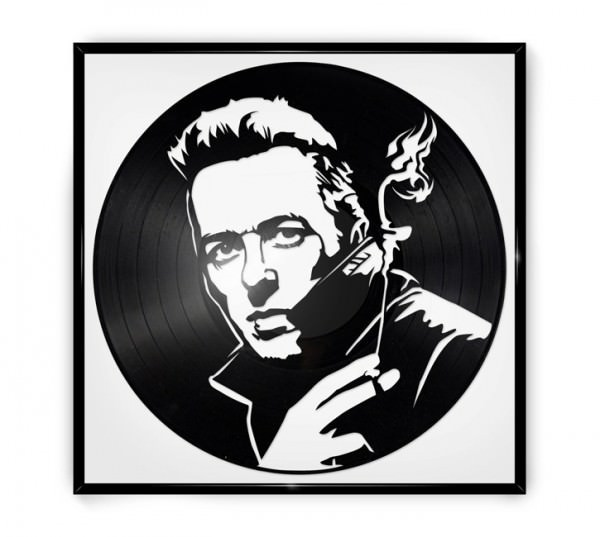 Repurposed Vinyl Turned into Portraits of Iconic Musicians 3 • Recycled Art