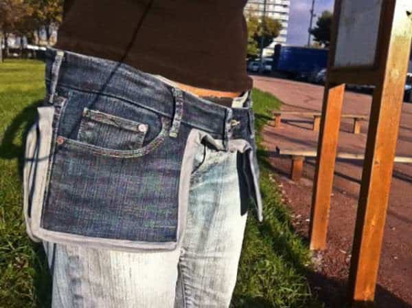 Old Jeans as a Saddlebags 1 • Clothing