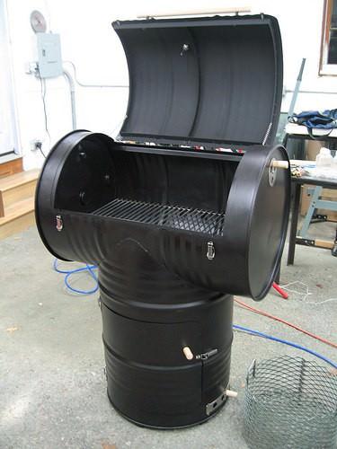 55 Gallon Drum Smoker 1 • Do-It-Yourself Ideas