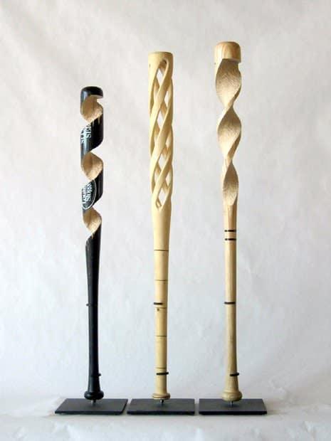 Baseball Bat Sculpture 2 • Recycled Art