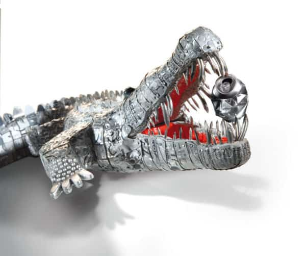 Crocodile Cans Sculpture 1 • Recycled Art