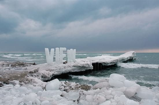 Ice Typography 4 • Interactive, Happening & Street Art