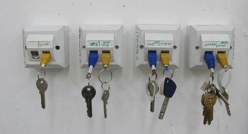 Colorful Key Chain and Rack 1 • Recycled Electronic Waste