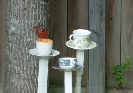Diy : Tea Cup Bird Feeder 2 • Garden Ideas