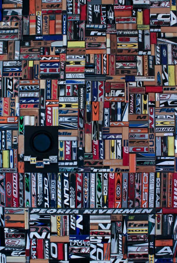 Hockey Sticks 1 • Recycled Art