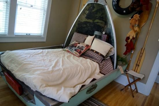 Upcycled Boat Into Bed Mechanic & Friends Recycled Furniture