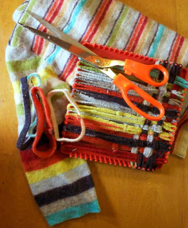 Sweater Turns into a Potholder 1 • Clothing