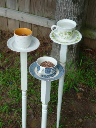 Diy : Tea Cup Bird Feeder 1 • Garden Ideas