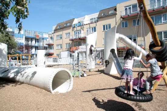 Playground with Used Windmill Parts 1 • Home Improvement