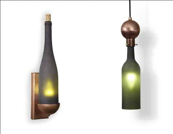 Recycled Wine Bottle Chandelier 2 • Lamps & Lights