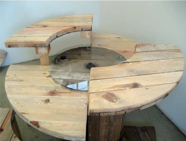Cable Reel Desk 3 • Recycled Furniture