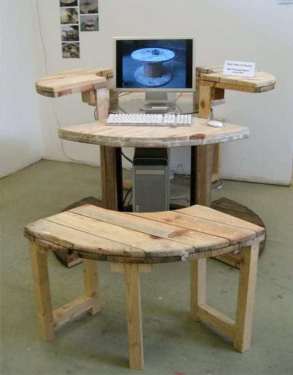 Cable Reel Desk 1 • Recycled Furniture