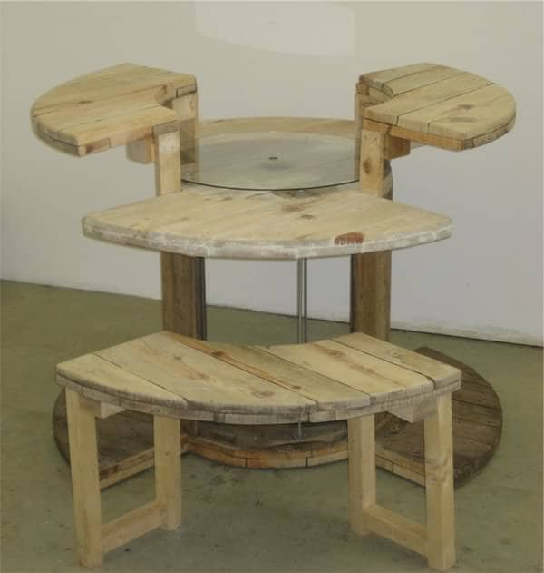 Cable Reel Desk 2 • Recycled Furniture