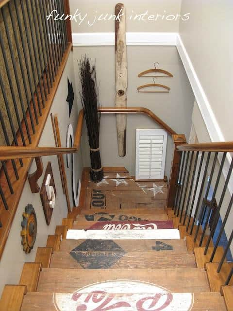 Funky Junk Stairs 2 • Home Improvement