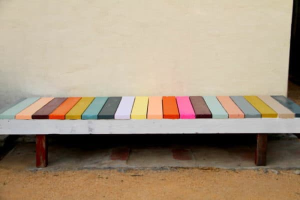 Diy : Colorful Bench 2 • Do-It-Yourself Ideas