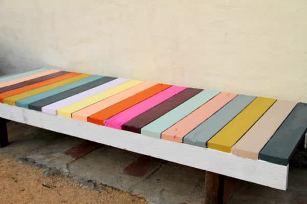 Diy : Colorful Bench 1 • Do-It-Yourself Ideas