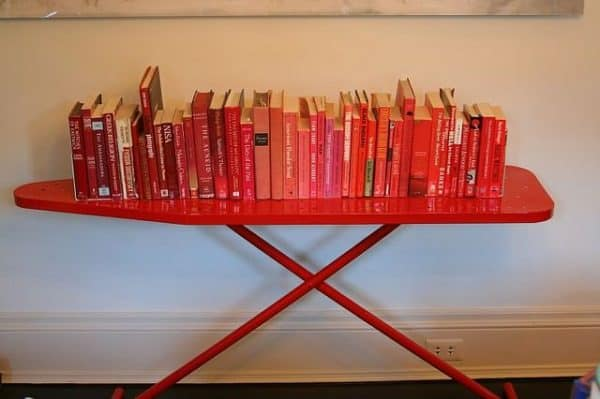 Ironing Board Upcycled As A Bookshelf 1 • Do-It-Yourself Ideas