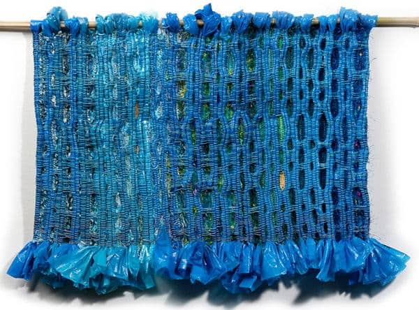 Weaving with Plastic 1 • Recycled Art