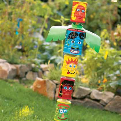 Diy : Can Totem Pole 1 • Do-It-Yourself Ideas