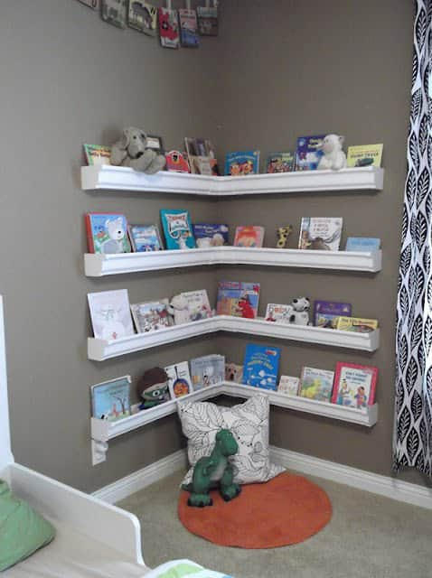 Rain Gutters as Bookshelves 1 • Do-It-Yourself Ideas