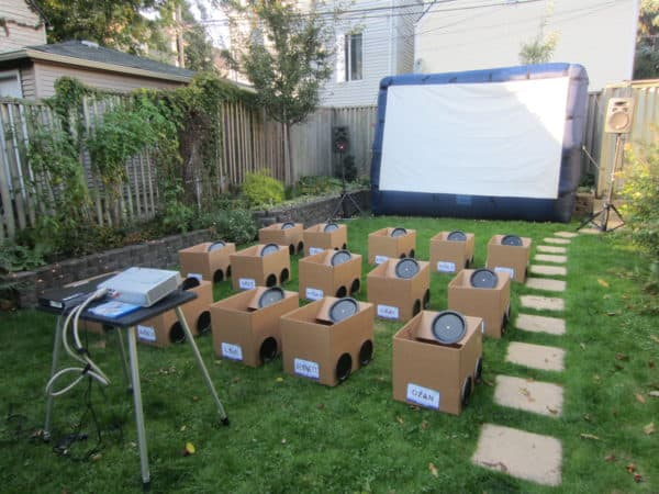 Backyard Drive-in Movie Party 1 • Do-It-Yourself Ideas