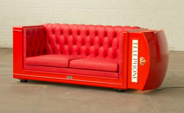 Phone Booth Lounger 1 • Recycled Furniture