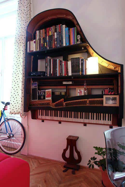 Piano Bookshelf 1 • Do-It-Yourself Ideas