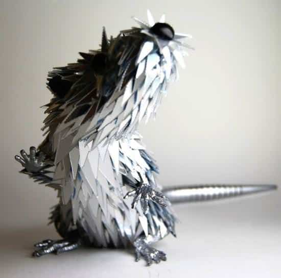 Sculptures from Shattered Cds 2 • Recycled Art