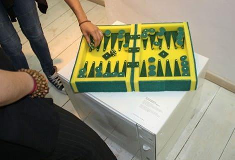 Sponge Backgammon 3 • Recycled Art