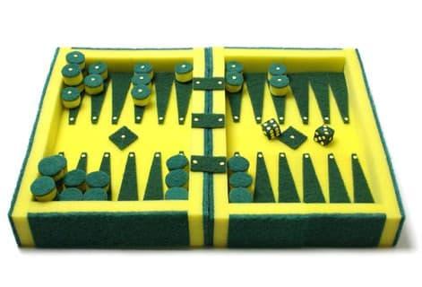 Sponge Backgammon 1 • Recycled Art