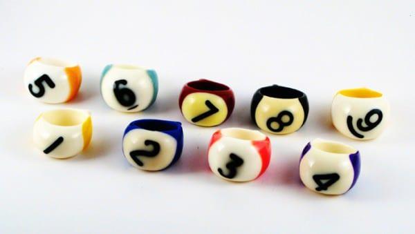 Billiard Balls Rings 3 • Accessories