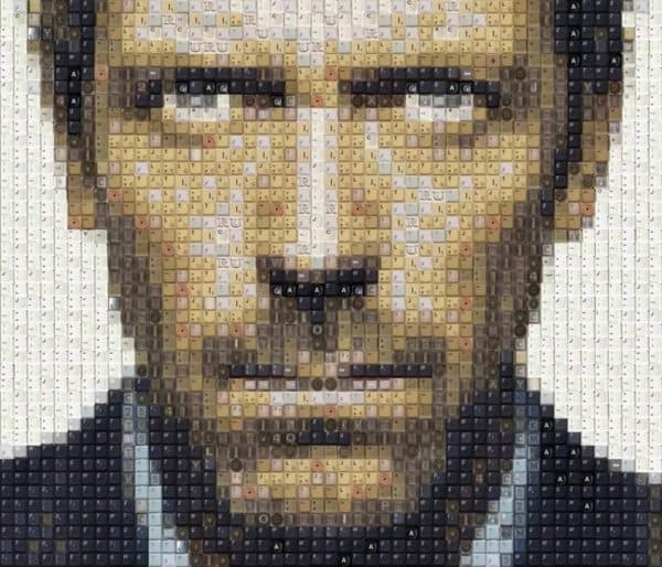 Dr House, Ryan Gosling (And More) Keyboard Portraits 2 • Recycled Art