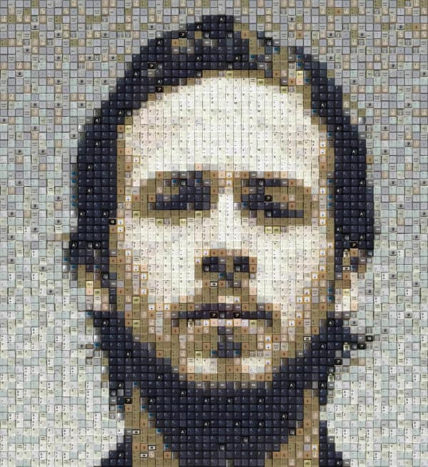 Dr House, Ryan Gosling (And More) Keyboard Portraits 1 • Recycled Art
