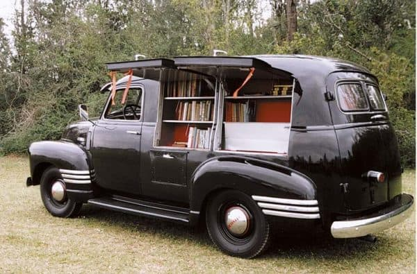 1949 Chevy Book Mobile 1 • Interactive, Happening & Street Art