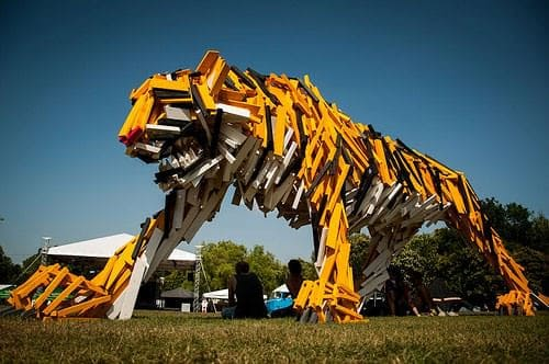 Tiger from  Hellowood 1 • Recycled Art