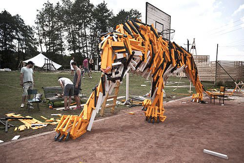 Tiger from Hellowood 2 • Recycled Art