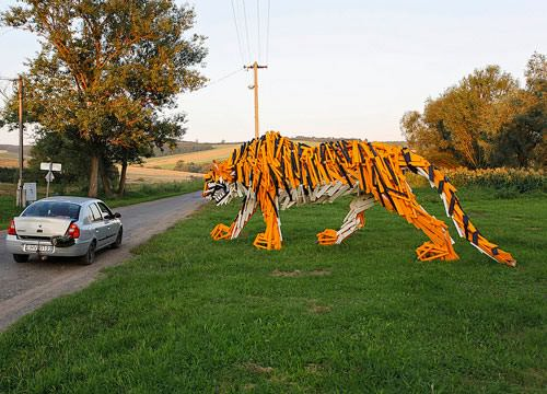 Tiger from  Hellowood 3 • Recycled Art