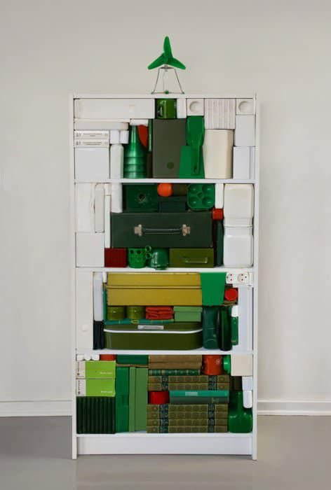 Graphical Christmas Tree 1 • Recycled Art