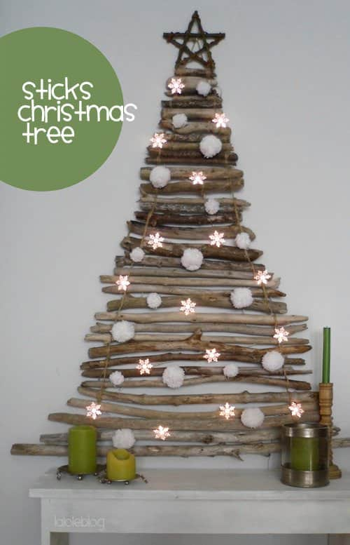 Stick Christmas Tree 1 • Do-It-Yourself Ideas