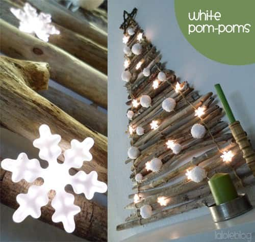 Stick Christmas Tree 2 • Do-It-Yourself Ideas