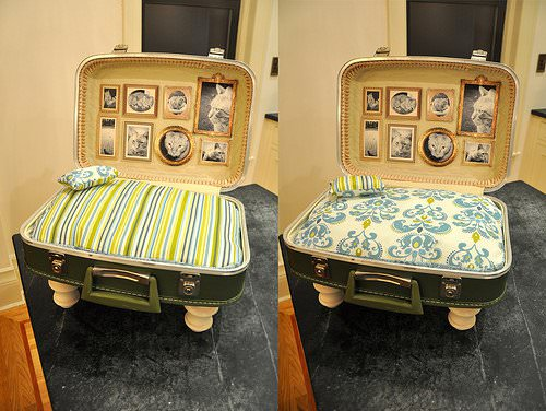 Cat Bed From Upcycled Suitcase 2 • Accessories