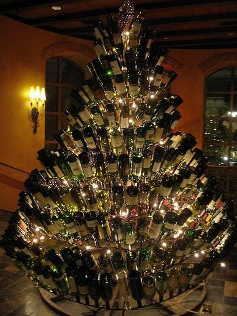 Wine Bottle Christmas Tree 1 • Do-It-Yourself Ideas