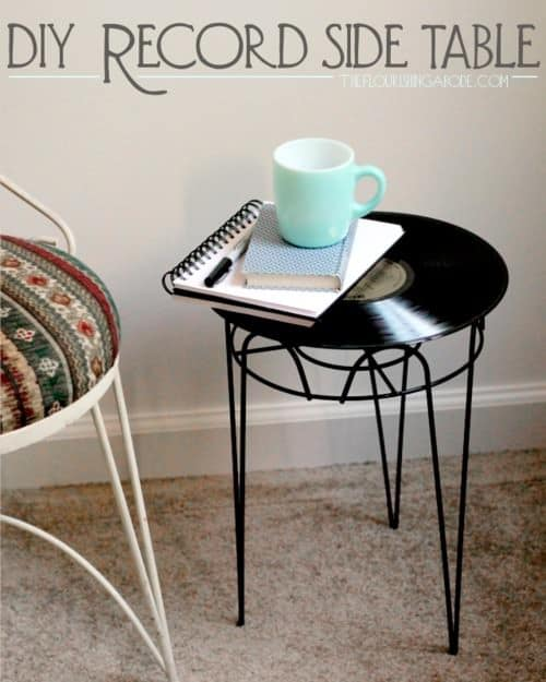 Lp Record Side Table 1 • Recycled Furniture